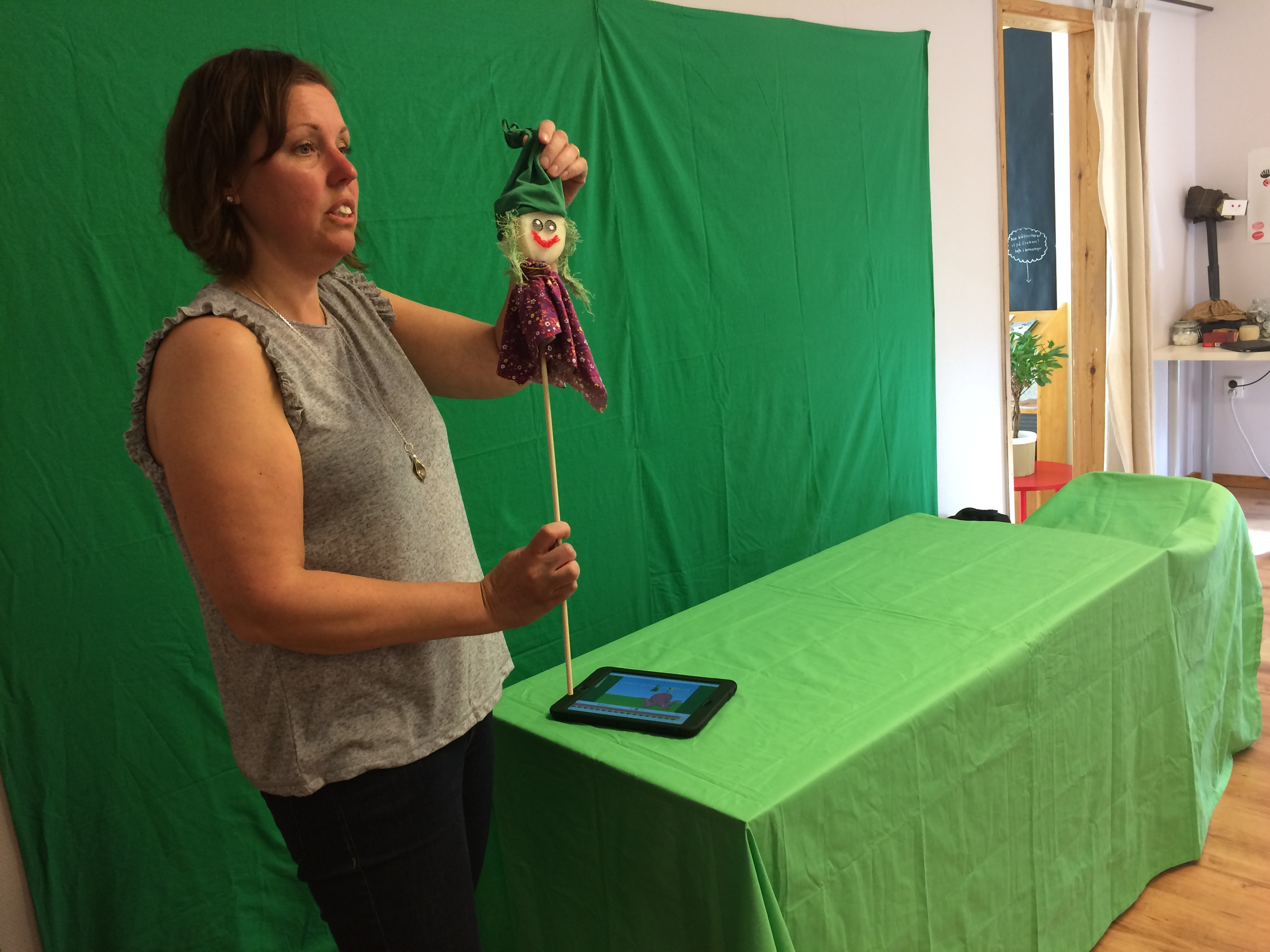 Lotta Green Screen. Foto: Marie Eriksson